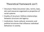 theoretical framework con t