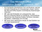 das microsoft office information bridge framework ibf