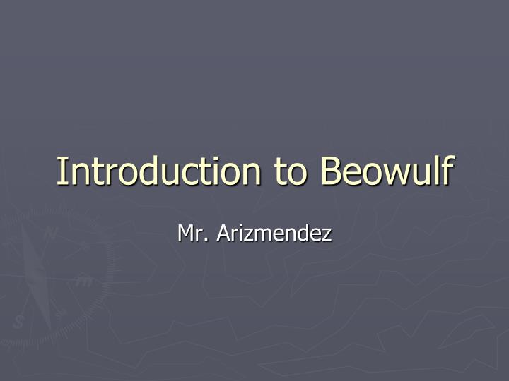 introduction to beowulf n.