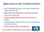 what puts us off communication