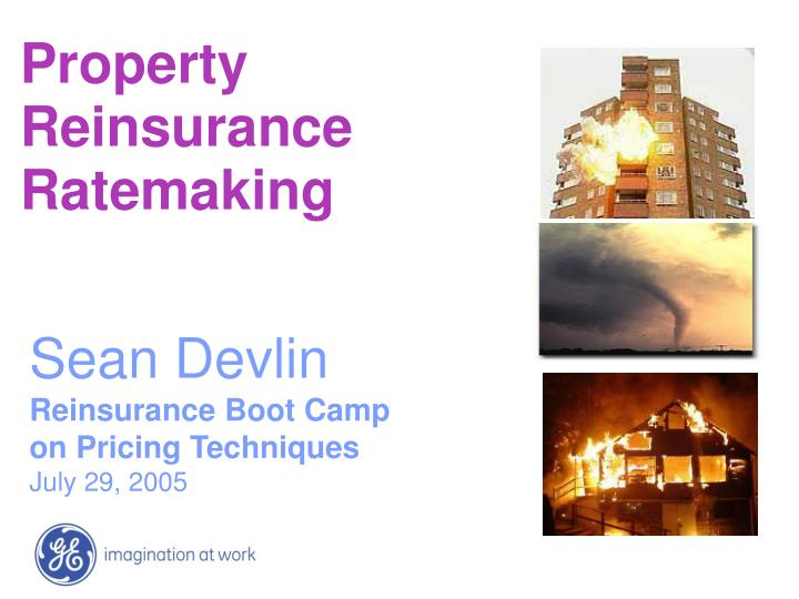 property reinsurance ratemaking n.