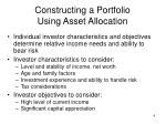 constructing a portfolio using asset allocation