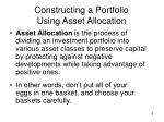 constructing a portfolio using asset allocation1