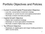portfolio objectives and policies