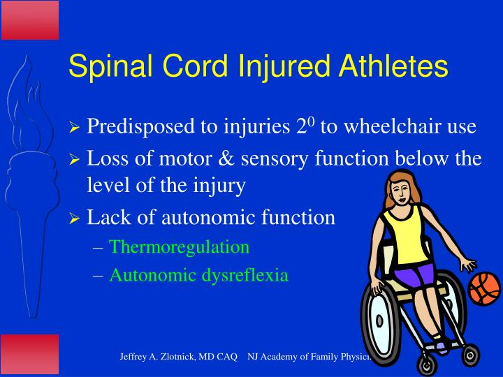 Spinal Cord Injured Athletes