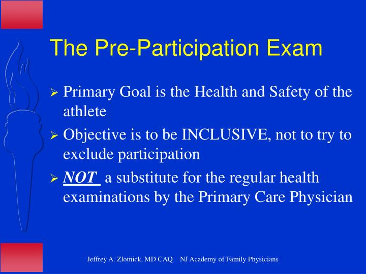 The Pre-Participation Exam