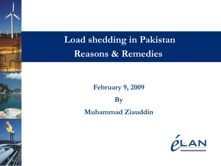 load shedding in pakistan reasons remedies n.