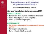 competitiveness and innovation programme cip 2007 201311