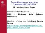 competitiveness and innovation programme cip 2007 201313