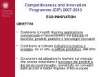 competitiveness and innovation programme cip 2007 20132