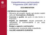 competitiveness and innovation programme cip 2007 20134