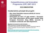 competitiveness and innovation programme cip 2007 20136