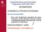 competitiveness and innovation programme cip 2007 20137