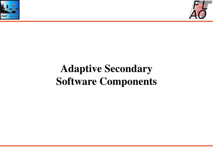 adaptive secondary software components n.