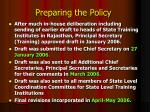 preparing the policy1