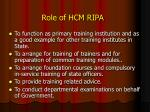 role of hcm ripa
