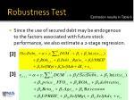 robustness test