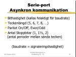 serie port asynkron kommunikation