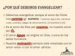 por qu debemos evangelizar