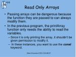 read only arrays