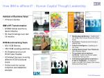 how ibm is different human capital thought leadership
