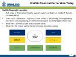 uralsib financial corporation today