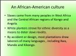 an african american culture