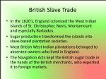 british slave trade
