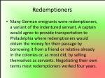 redemptioners