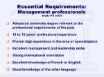 essential requirements management professionals grade p 5 and d