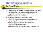 the changing world of technology1