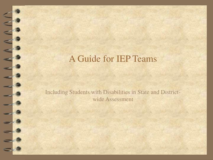 a guide for iep teams n.
