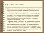 idea 97 requirements
