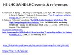 he lhc vhe lhc events references