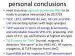 p ersonal conclusions