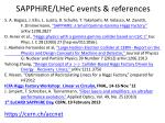 sapphire lhec events references