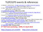 tlep lep3 events references