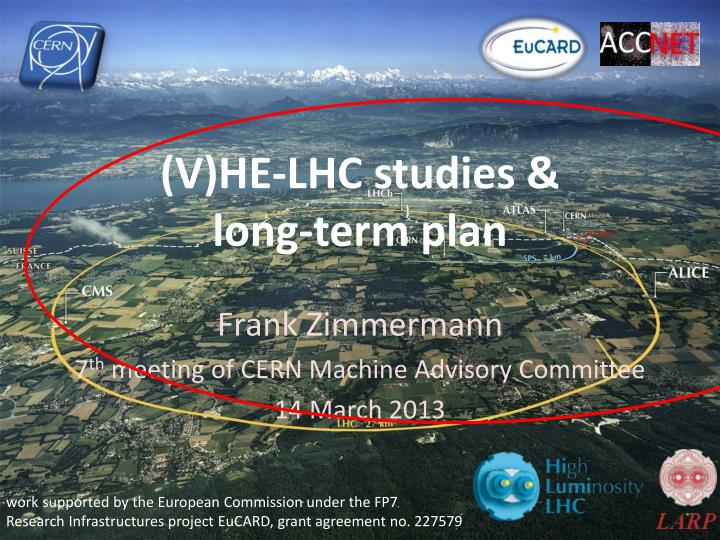 v he lhc studies long term plan n.