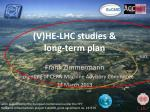 v he lhc studies long term plan