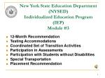 new york state education department nysed individualized education program iep module 3