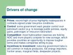 drivers of change