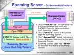 roaming server software architecture