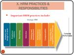 4 hrm practices responsibilities