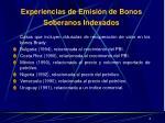 experiencias de emisi n de bonos soberanos indexados