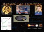 digression type ia supernovae