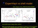 experiment vs shell model