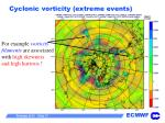 cyclonic vorticity extreme events