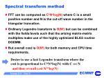 spectral transform method