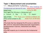 topic 1 measurement and uncertainties 1 1 measurements in physics15