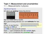 topic 1 measurement and uncertainties 1 1 measurements in physics28